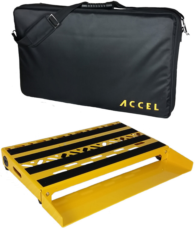 "Accel XTA21 Pedal Board, 4 1/2"" deep Switcher Bracket  & Tote."