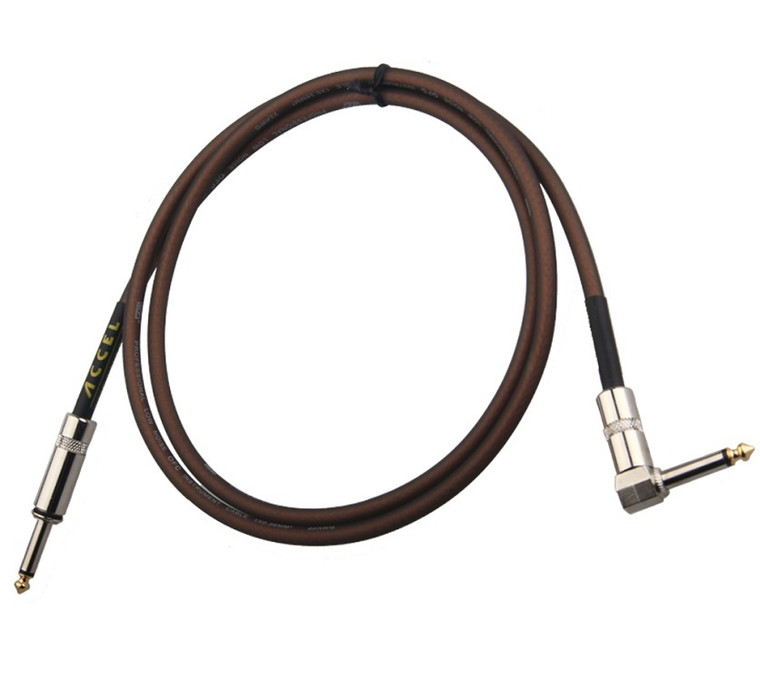 Accel 4 1/2 foot professional guitar instrument cable. Plug ends: straight / right angle.  Quantity: 1 per package.