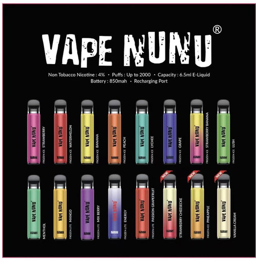STEAM ENGINE VAPE NuNu Synthetic Nicotine DISPOSABLE - 10 PACK