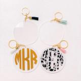 Personalized Acrylic Tassel Keychain
