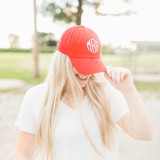 Distressed Baseball Hat - Red