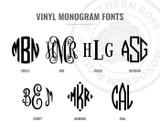 Acrylic Monogrammed Wine Glass