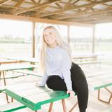 Heather Grey Cropped Hooded Sweatshirt