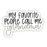 Call Me Grandma Hydroflask Sticker