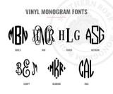 "5"" Vinyl Monogram Decal"