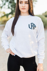 Ash Grey Personalized Crewneck Sweatshirt