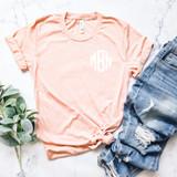 Peach Monogrammed T-Shirt