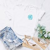 White Monogrammed T-Shirt