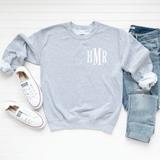 Heather Grey Personalized Sweatshirt