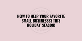 4 Ways to Help Small Businesses   Shop at The Southern Rose