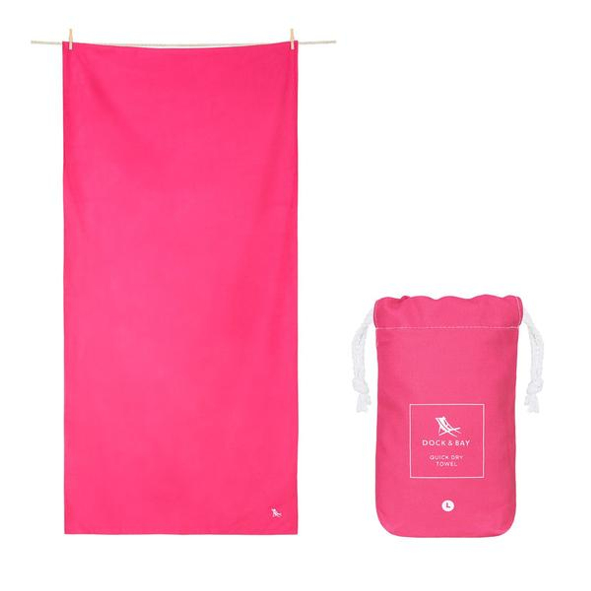 Dock & Bay Quick-Dry Large Towel - Angel Pink