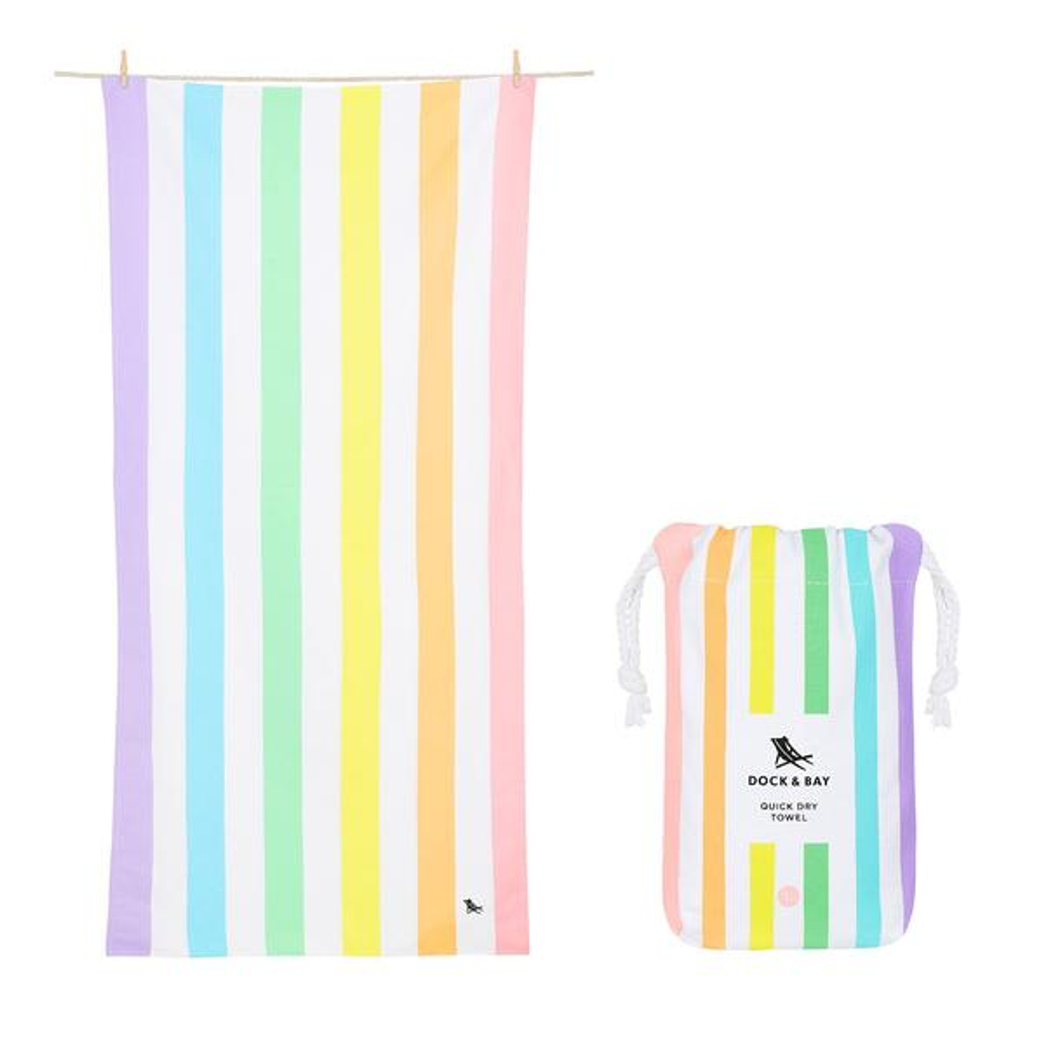 Dock & Bay Quick-Dry Large Towel - Unicorn Waves