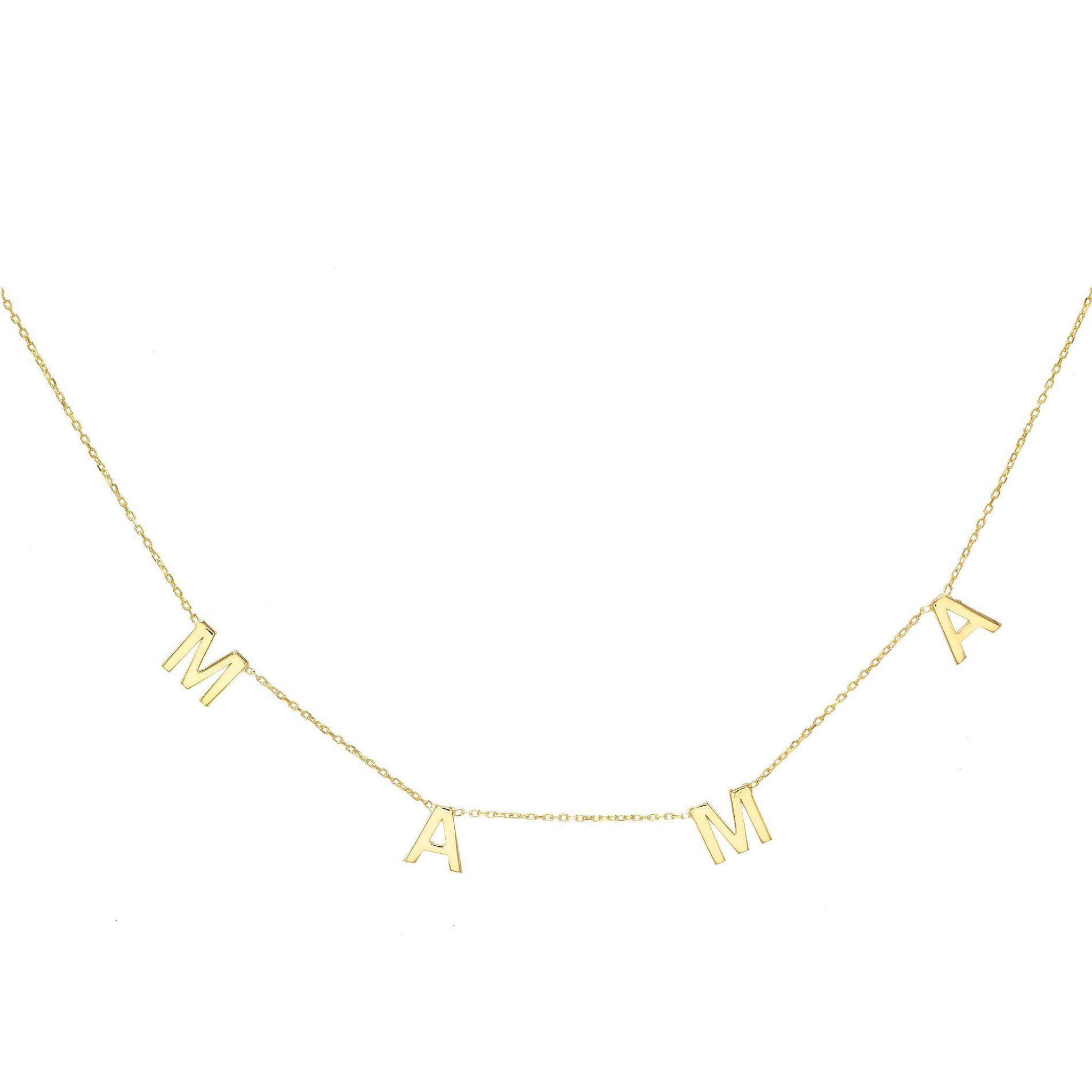 Mama Drop Letter Necklace