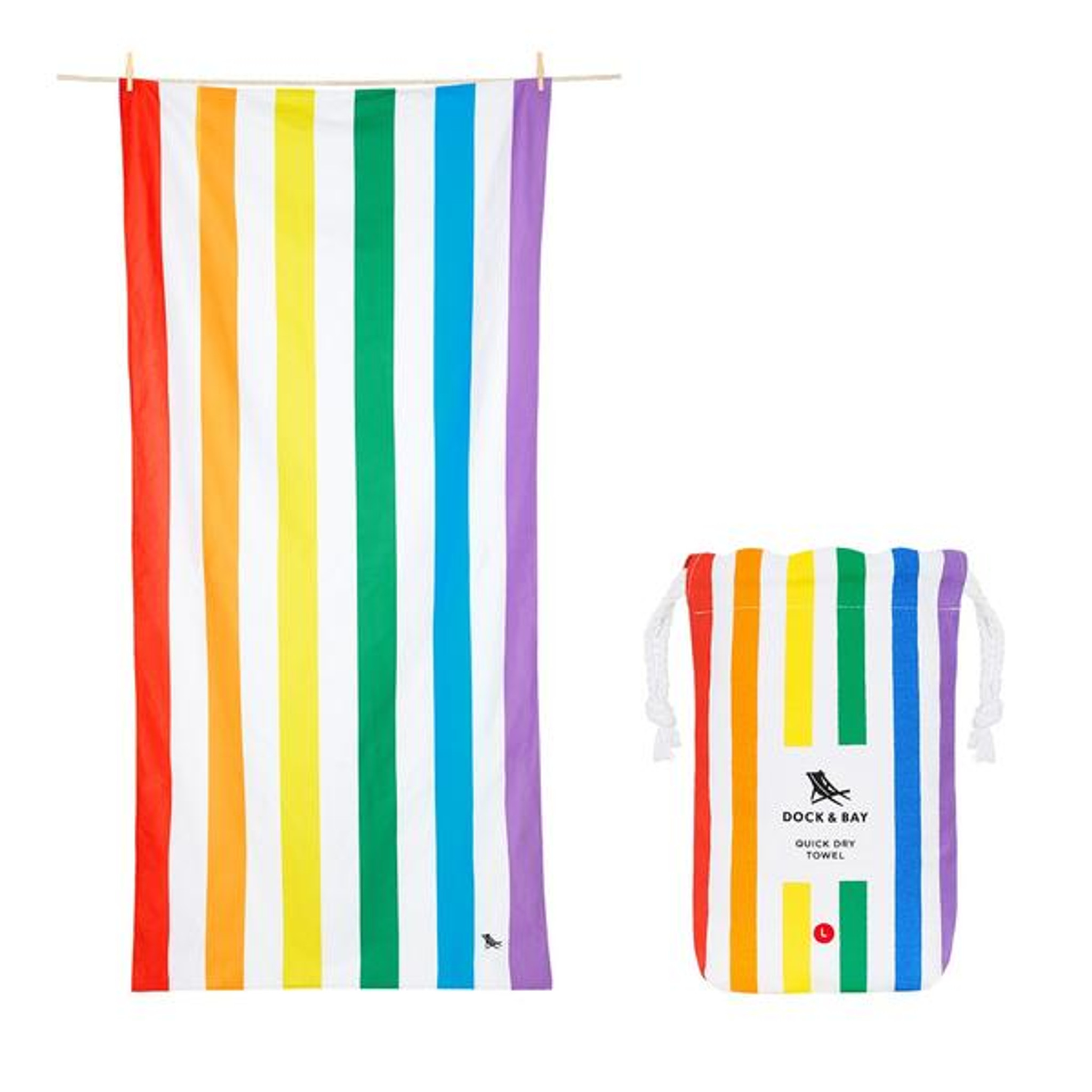 Dock & Bay Quick-Dry Large Towel - Rainbow Skies