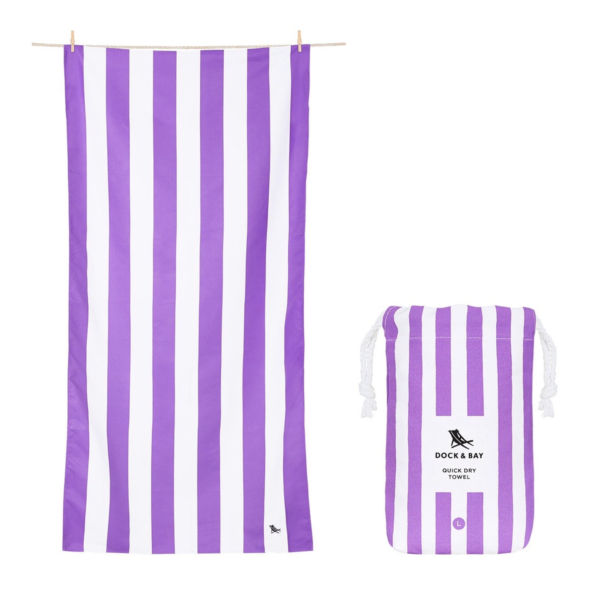 Dock & Bay Quick-Dry XL Towel - Brighton Purple