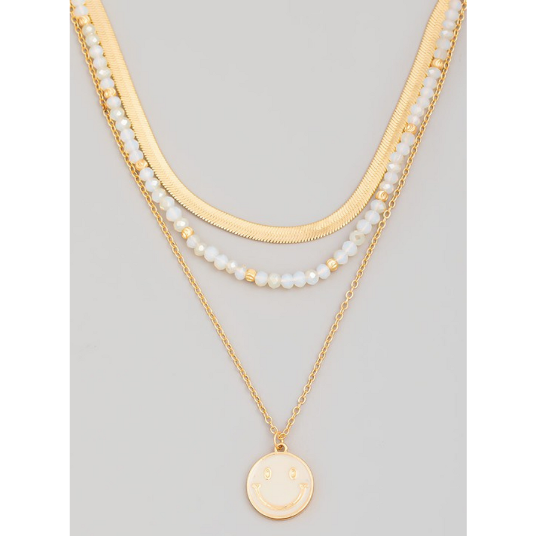 Ivory Smiley Charm Necklace