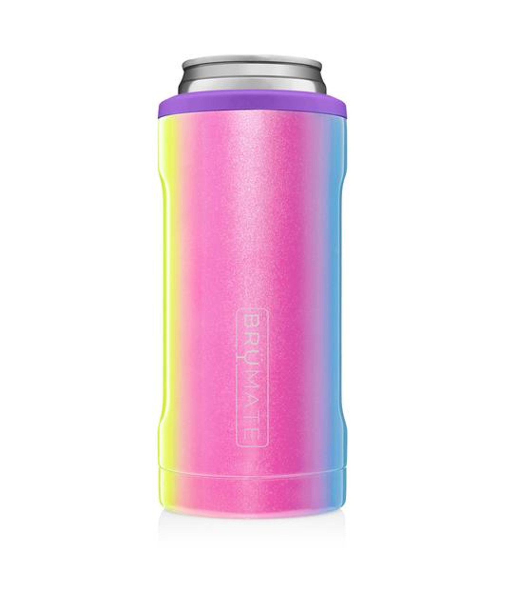 Brumate Slim Hopsulator - Glitter Rainbow