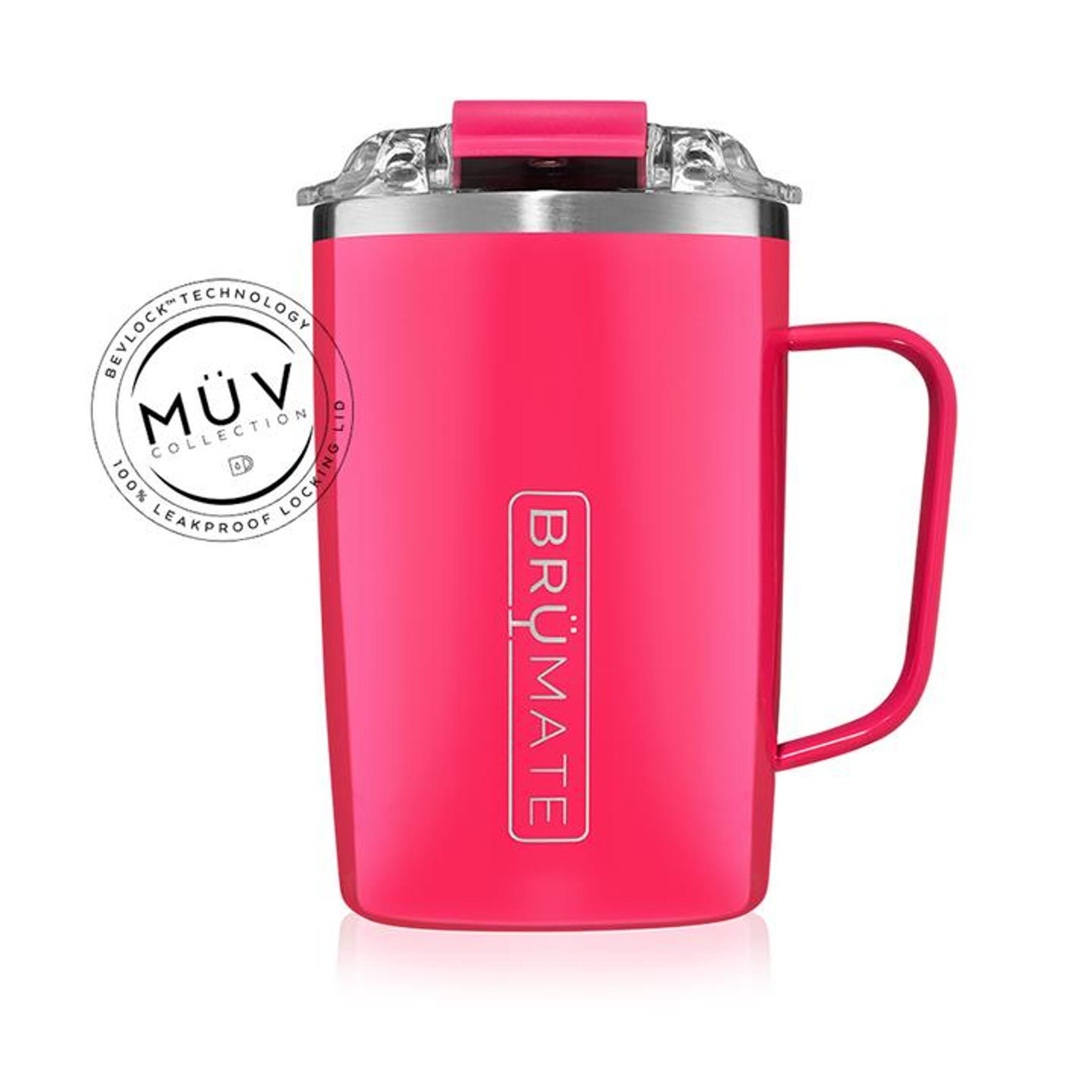 Brumate Toddy 16oz Mug - Neon Pink