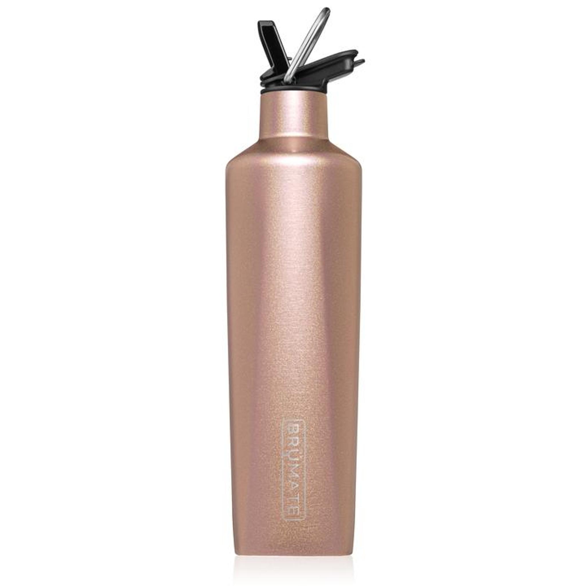 Brumate Rehydration Bottle - Glitter Rose Gold