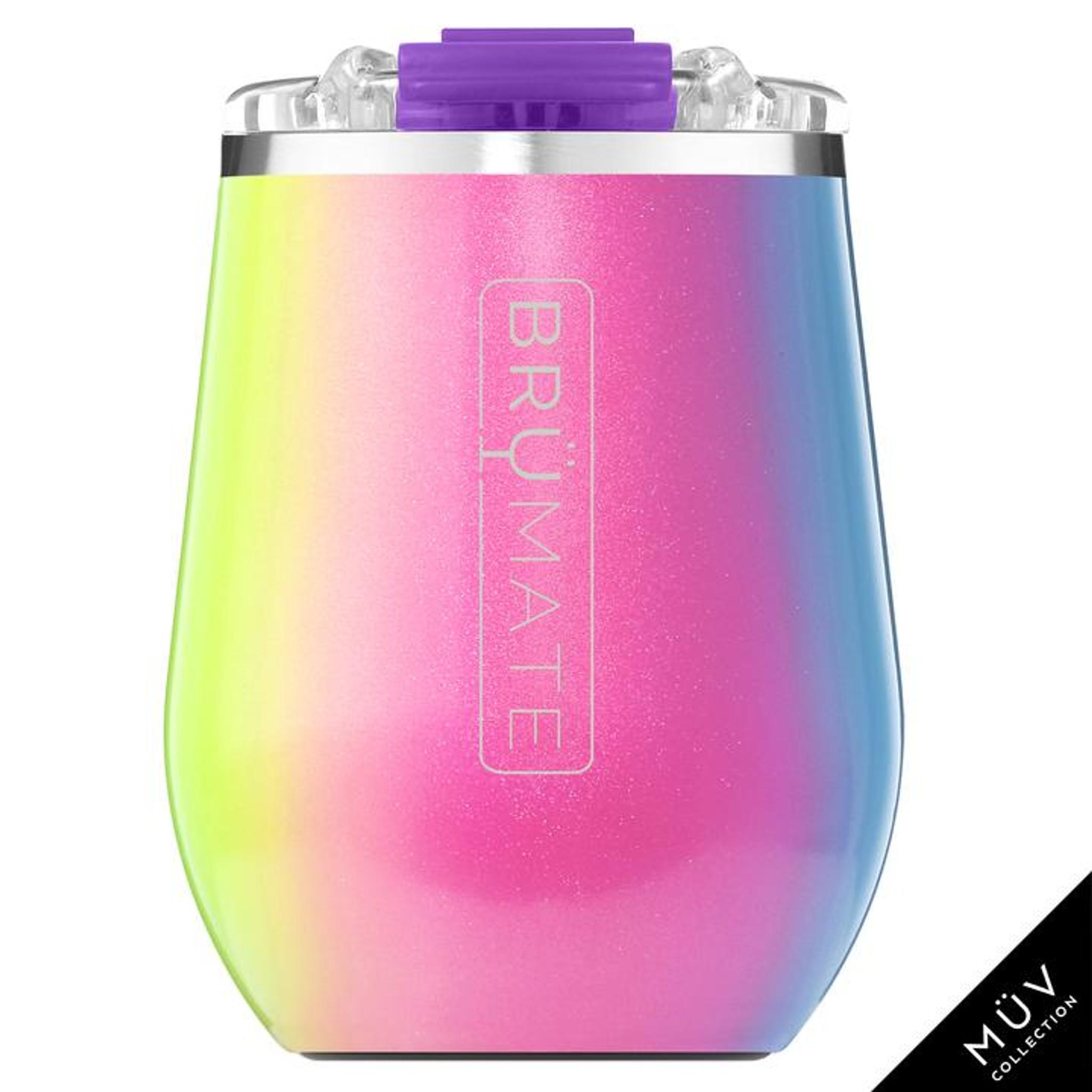 Brumate 14oz Wine Tumbler - Glitter Rainbow