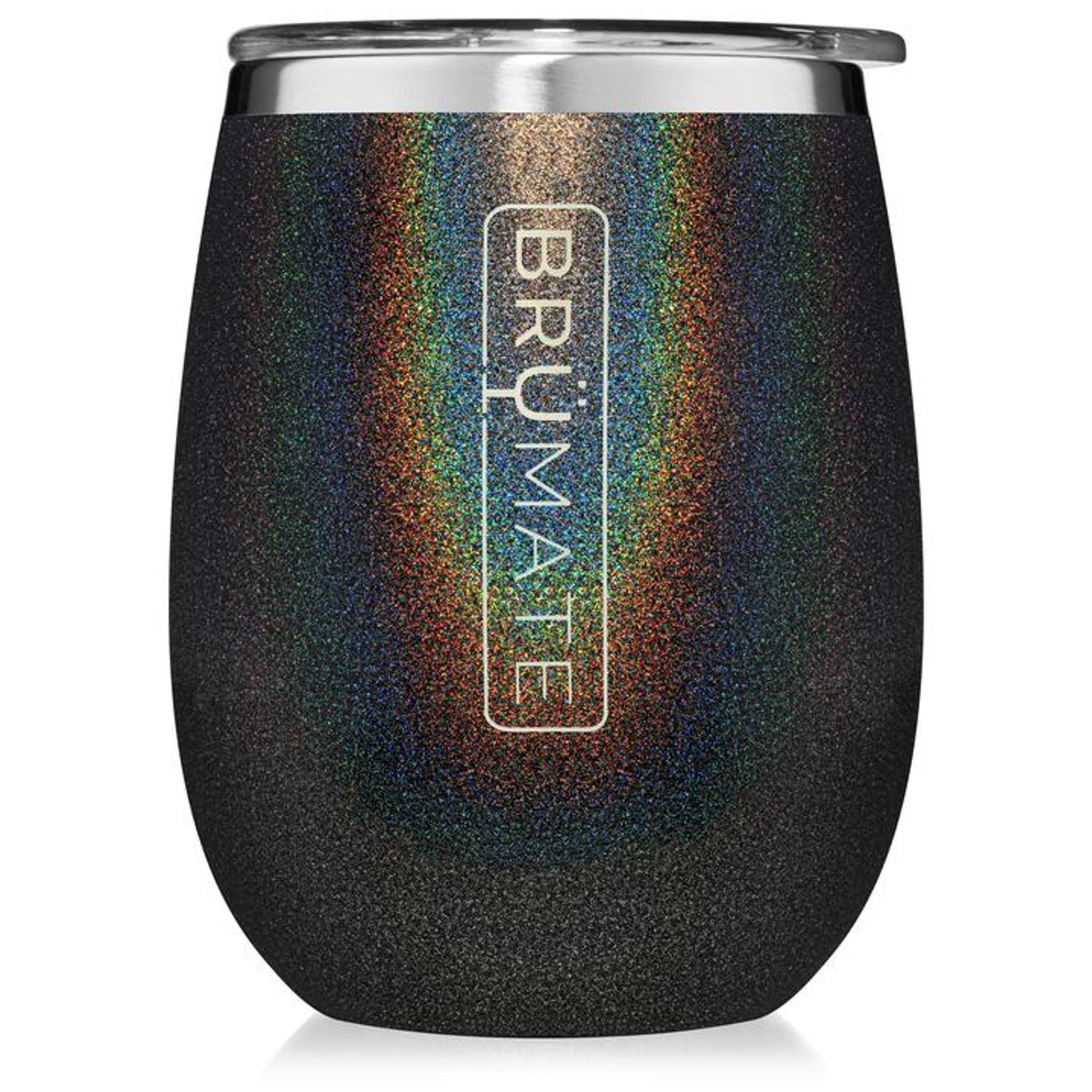 Brumate 14oz Wine Tumbler - Glitter Charcoal