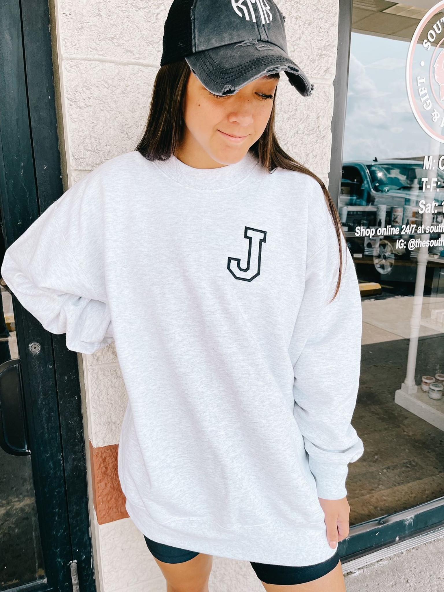 Varsity Initial Sweatshirt