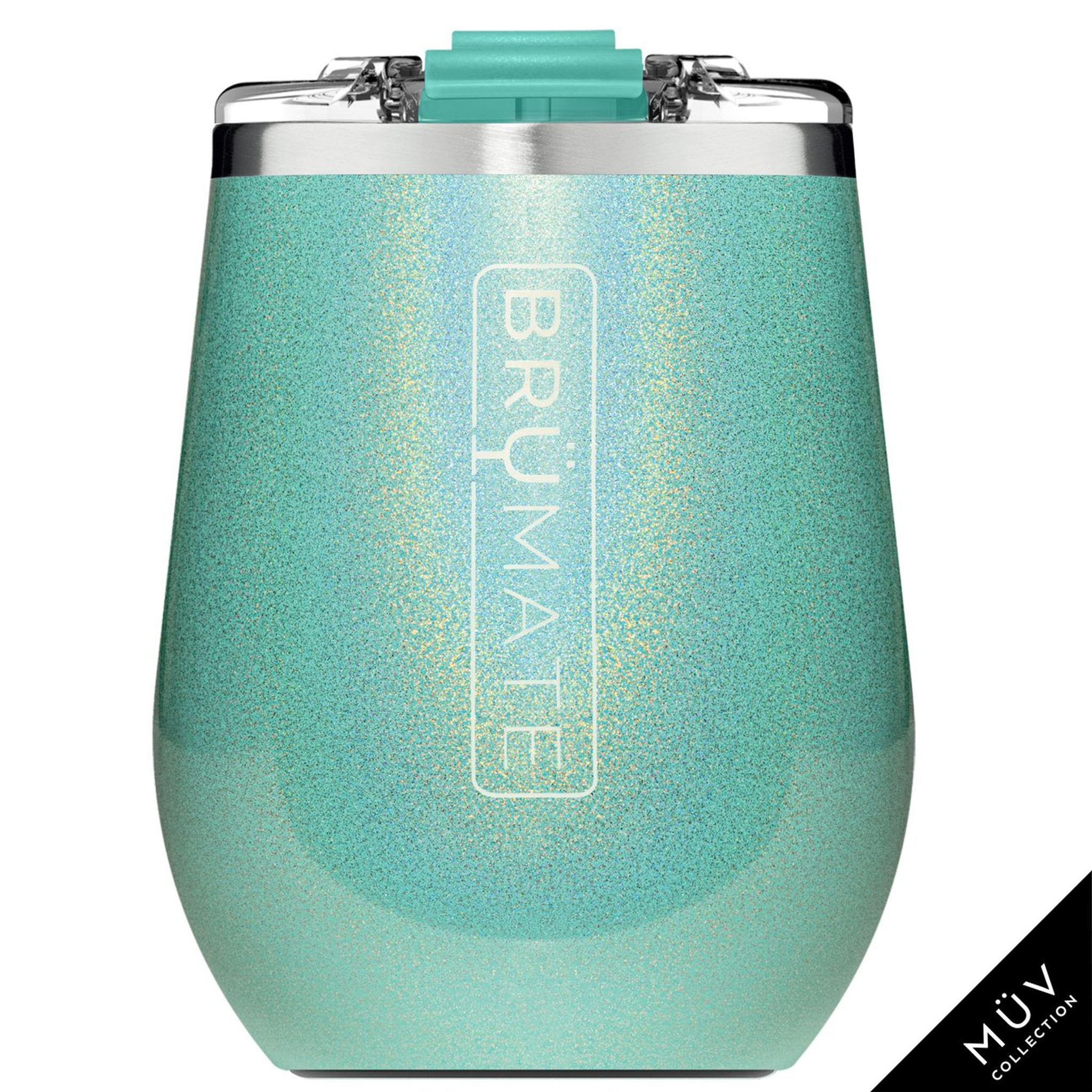 Brumate MuV Wine Tumbler - Glitter Aqua