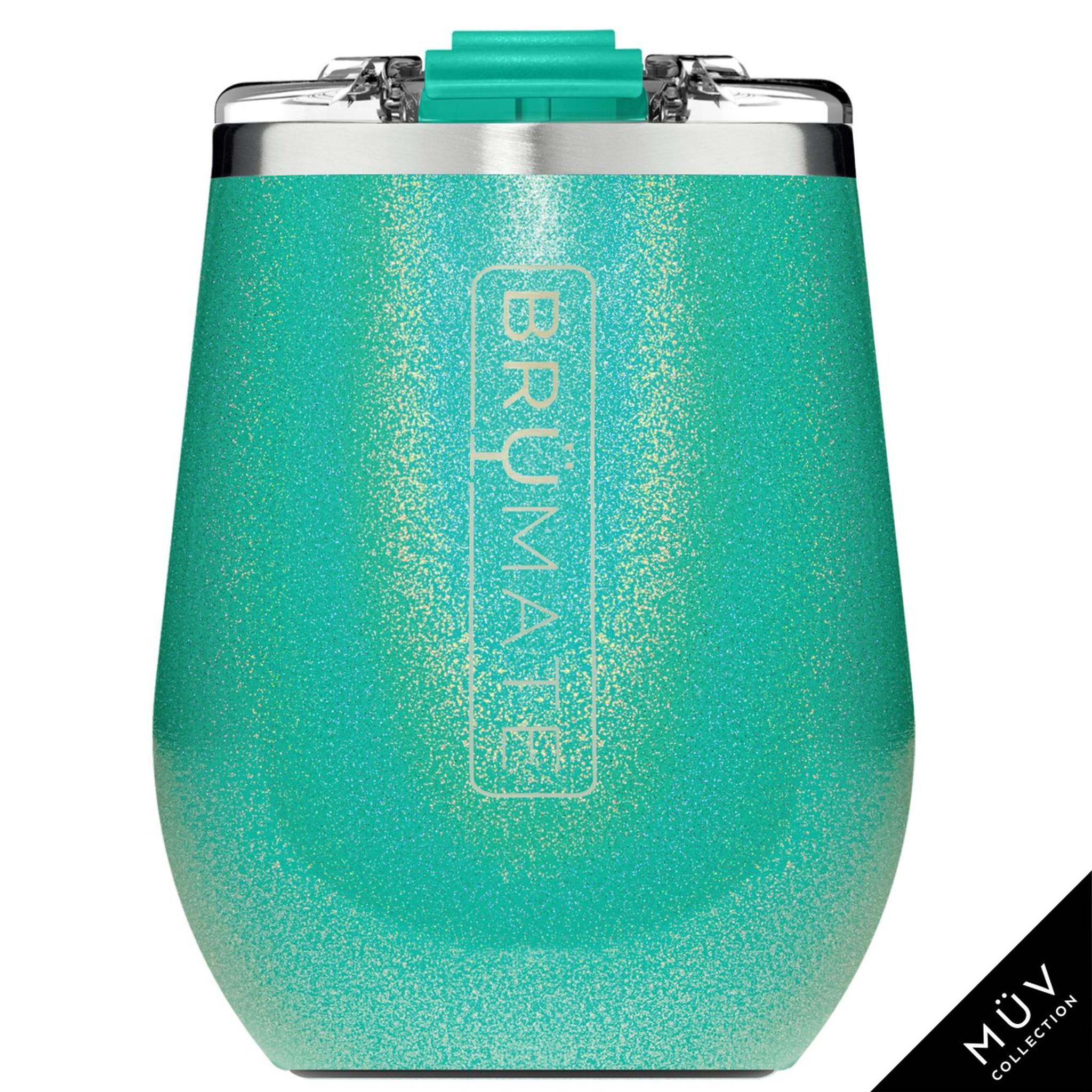 Brumate MuV Wine Tumbler - Glitter Peacock