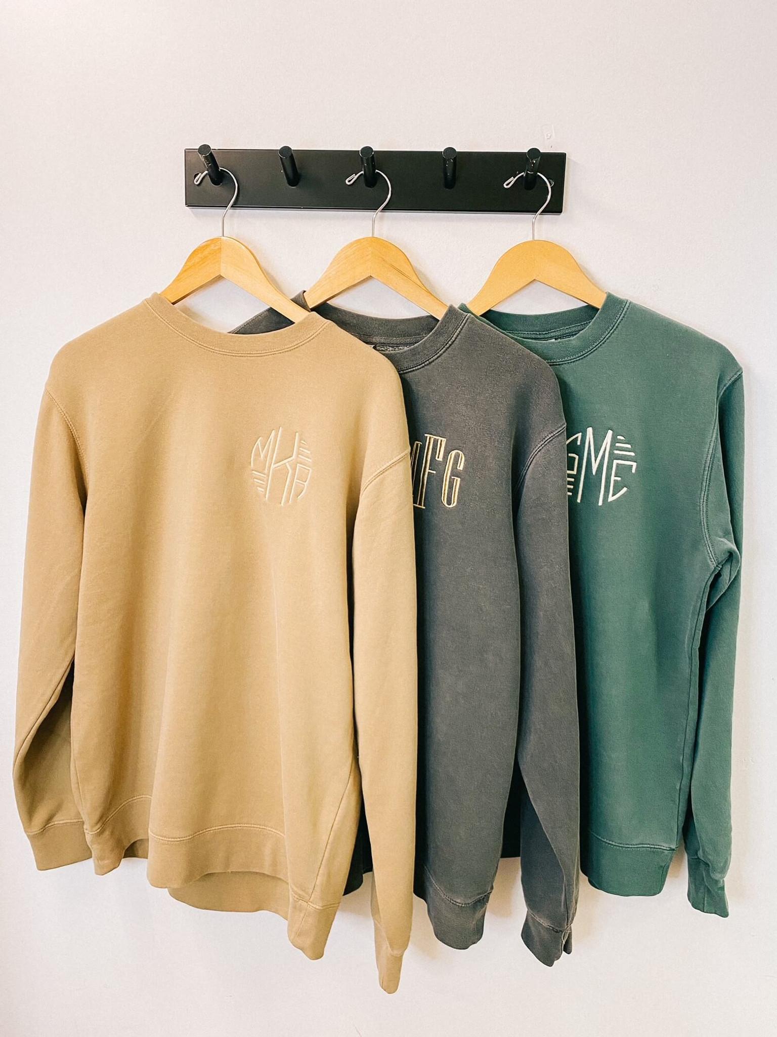 Tan Monogrammed Sweatshirt