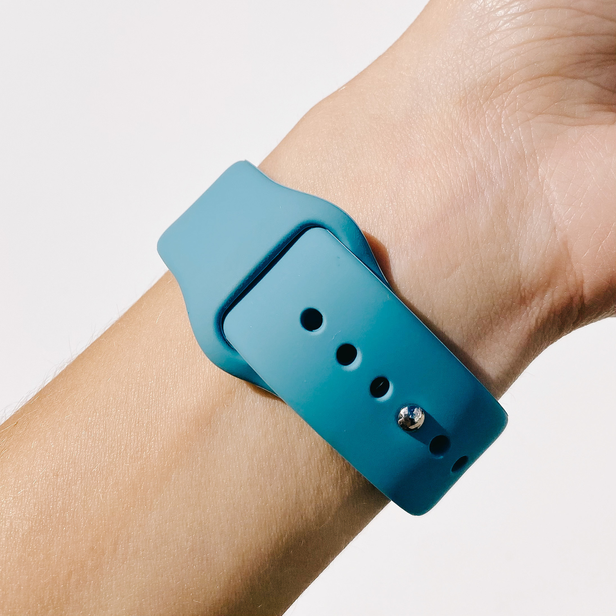 Wide Silicone Apple Watch Band
