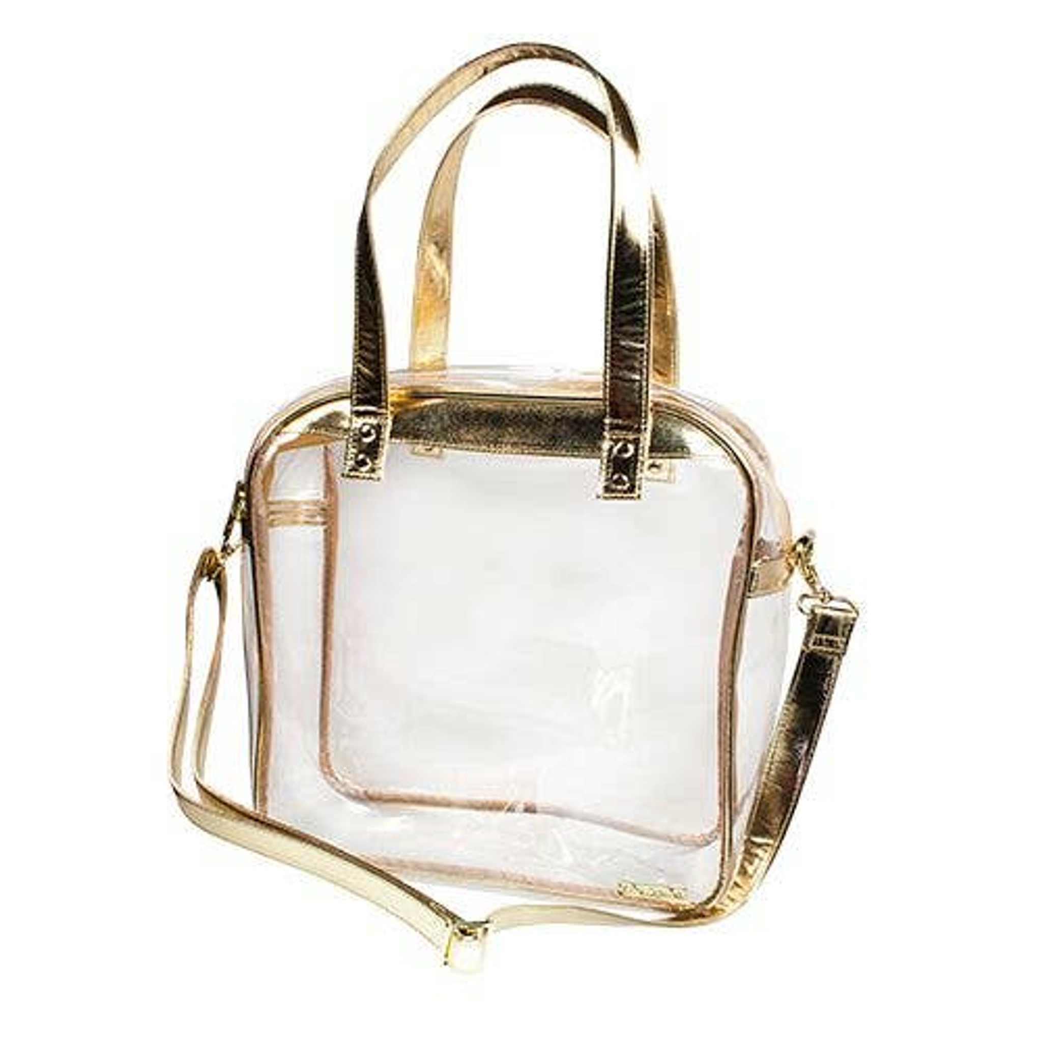 Carryall Clear Tote - Gold