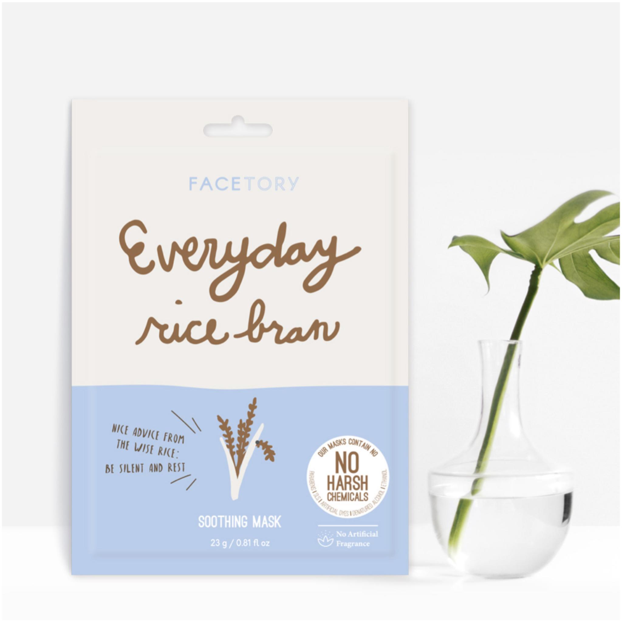 Rice Bran Facetory Sheet Masks