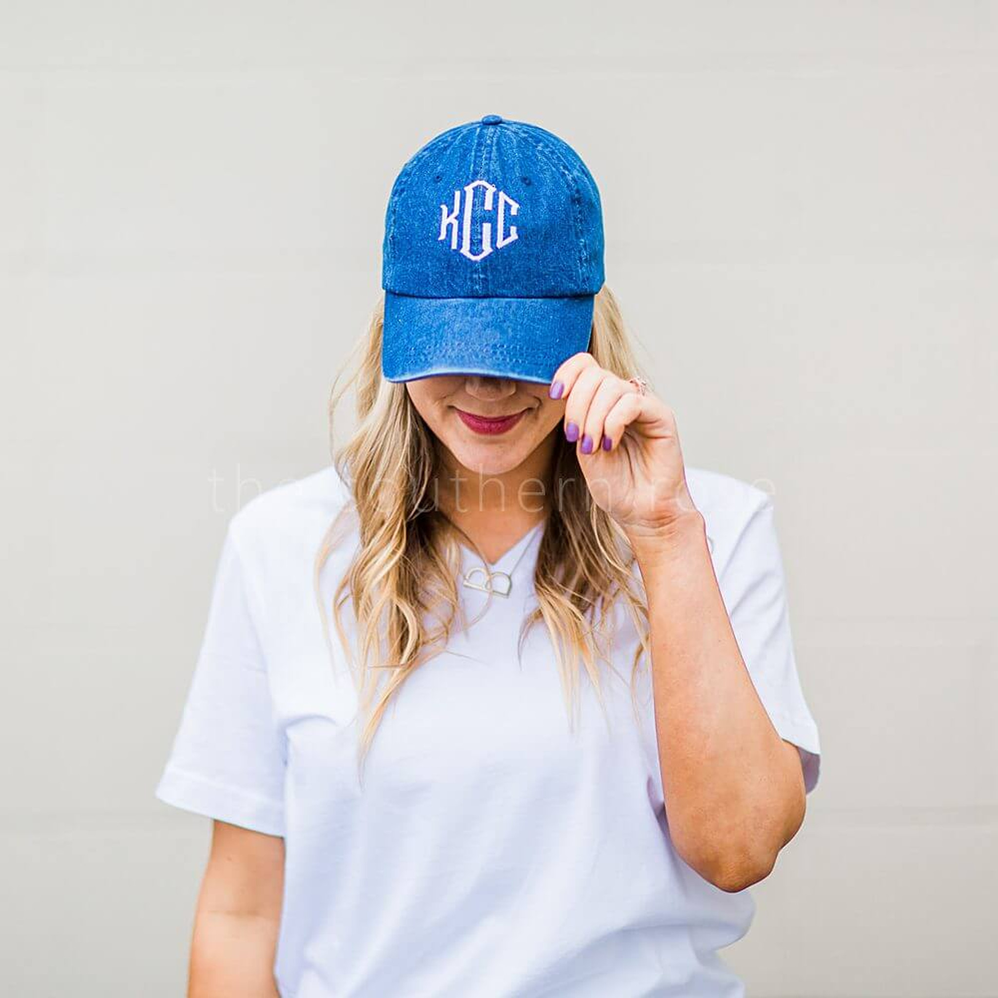 Monogrammed Baseball Hat - Dark Denim