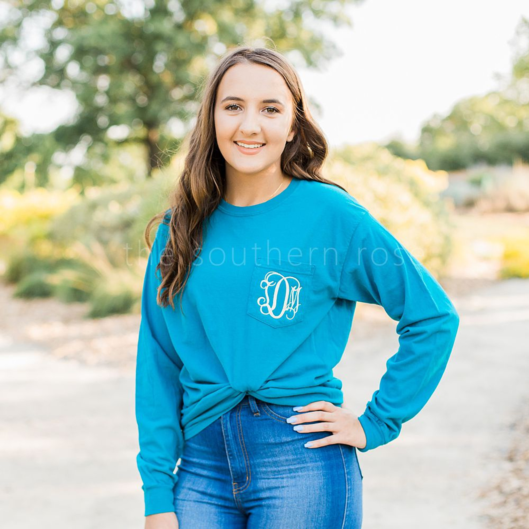 Comfort Colors Long Sleeve - Deep Teal