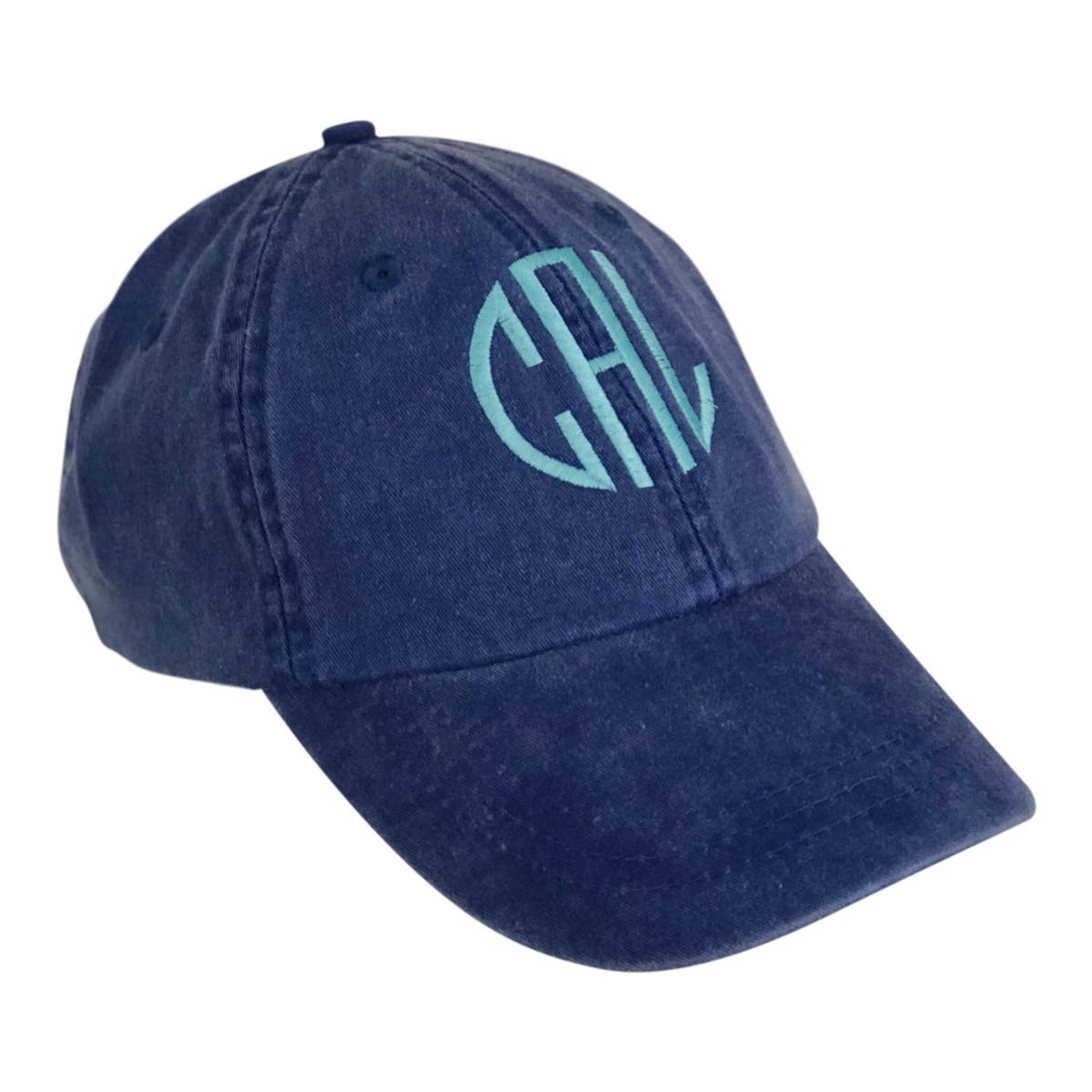 Monogrammed Baseball Hat -Royal Blue
