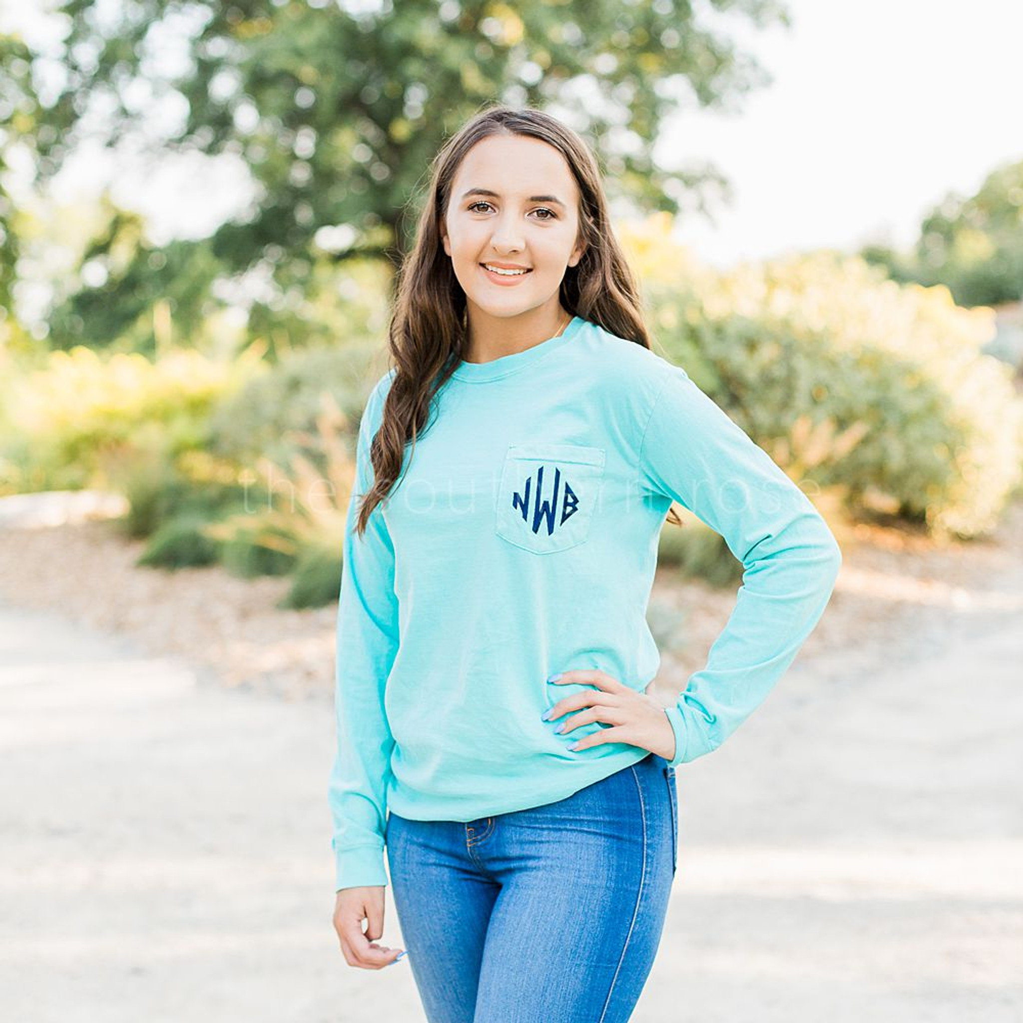 Comfort Colors Long Sleeve - Mint
