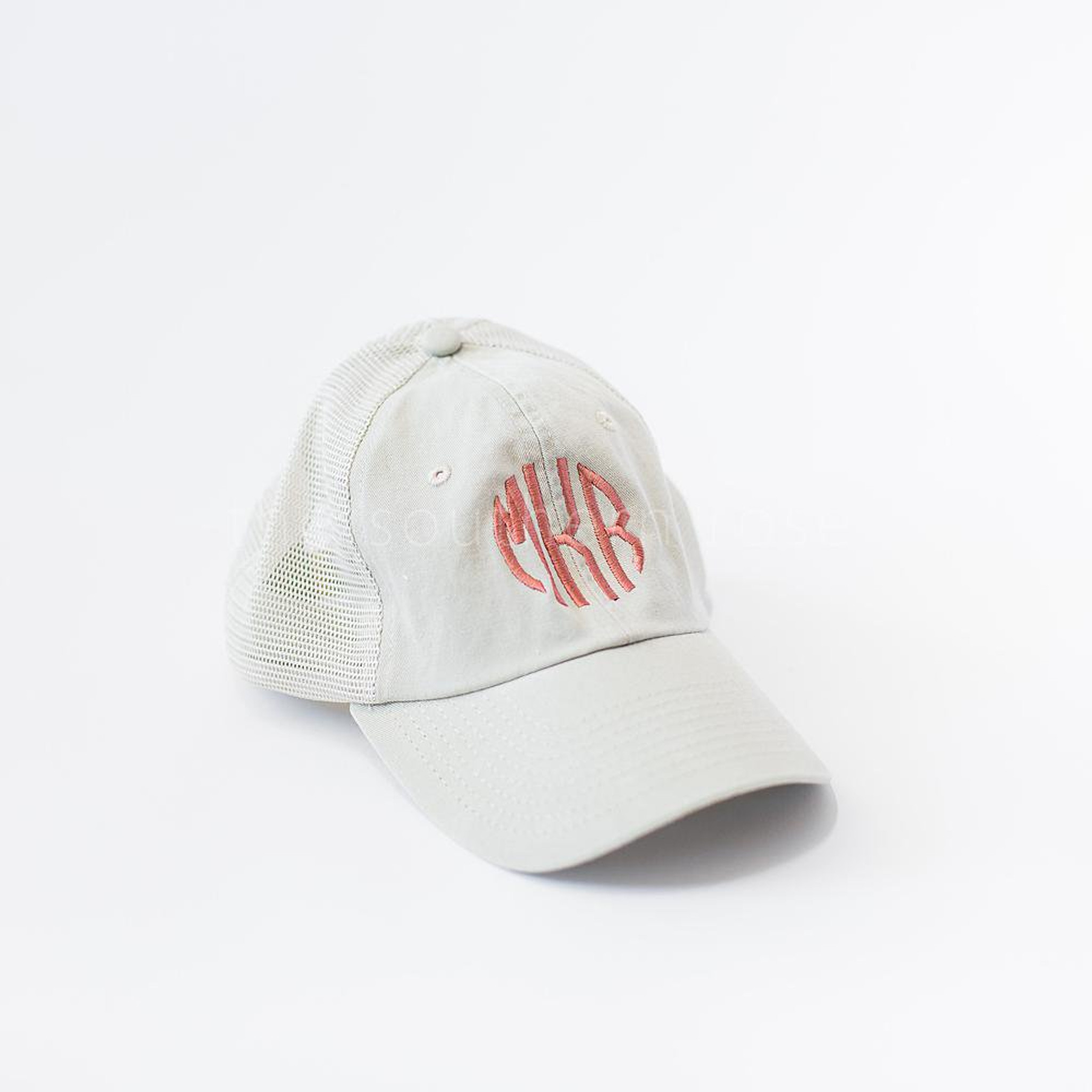 Monogrammed Trucker Hat - Tan
