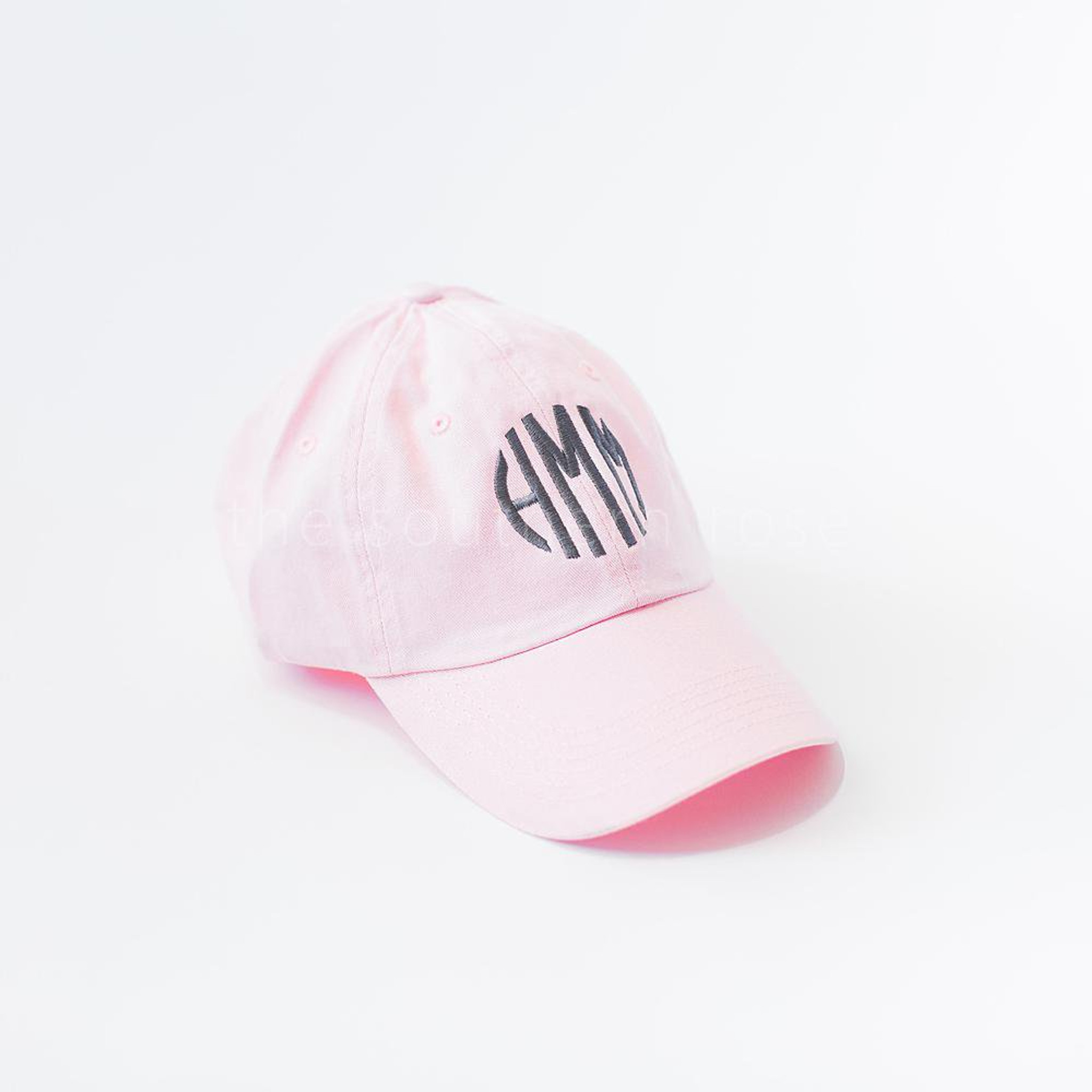 Light Pink Monogrammed Hat