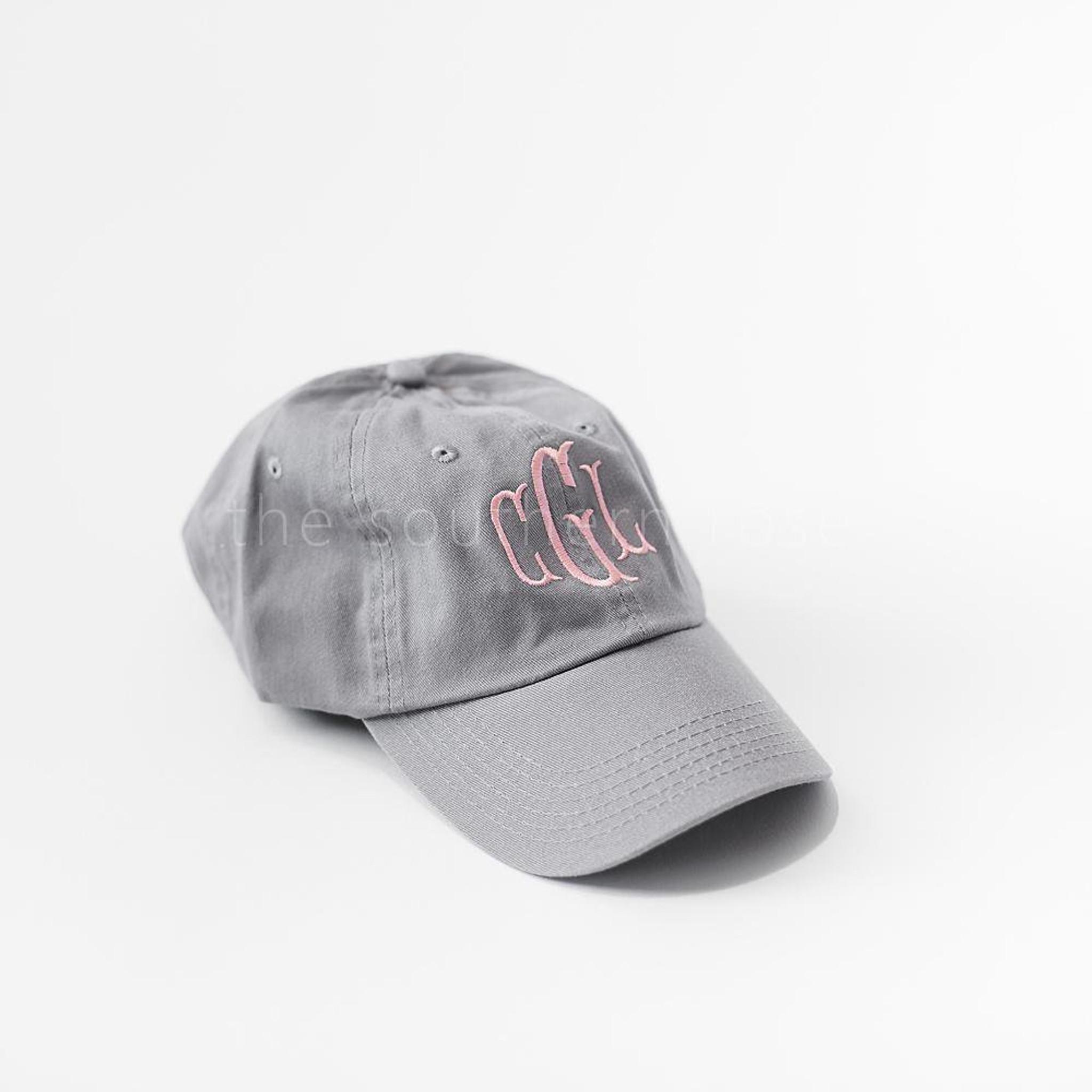 Gray Monogrammed Hat