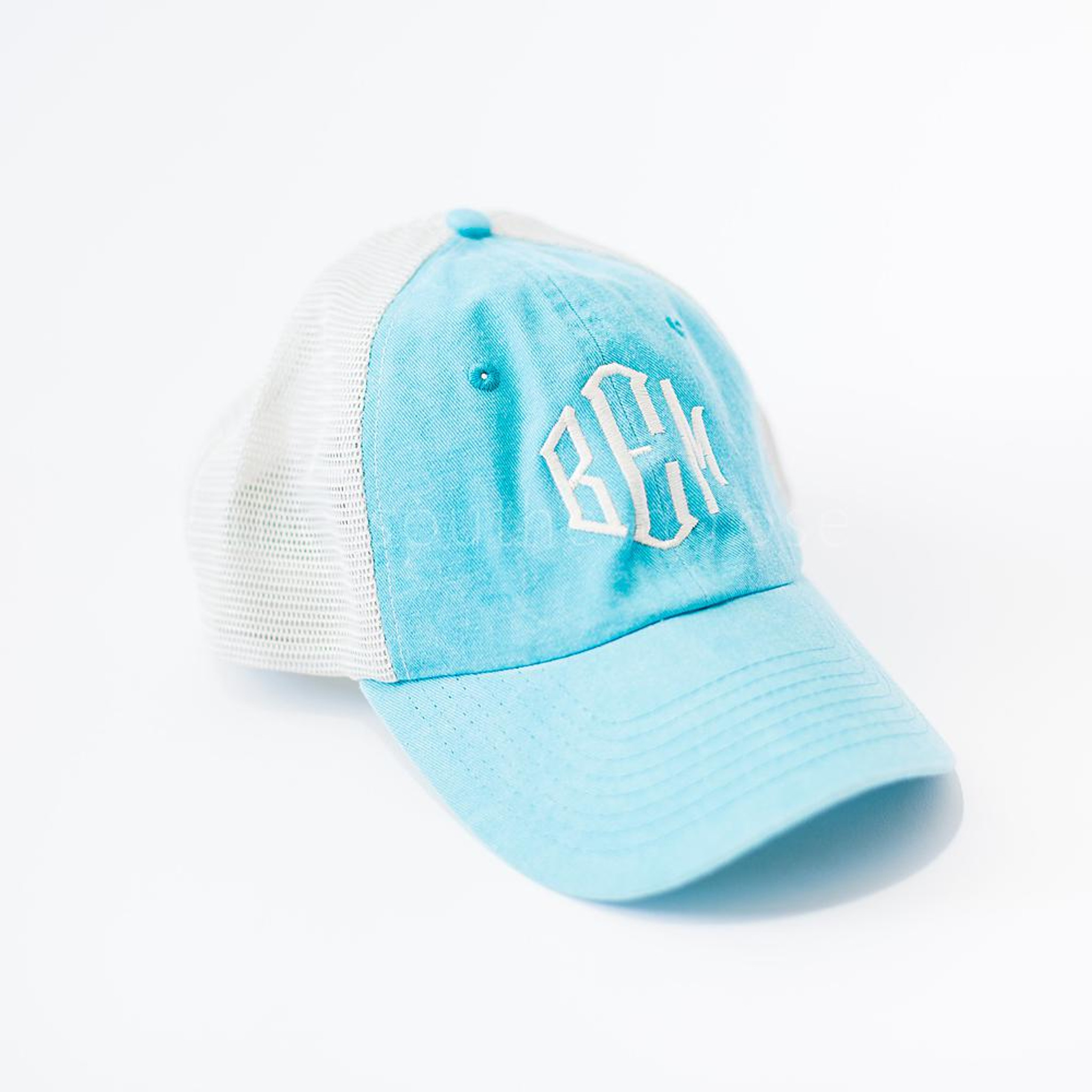Monogrammed Trucker Hat - Blue