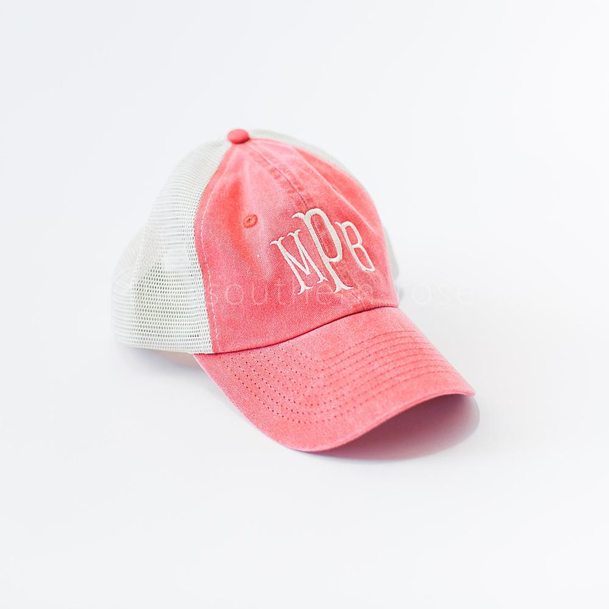 Monogrammed Trucker Hat - Red