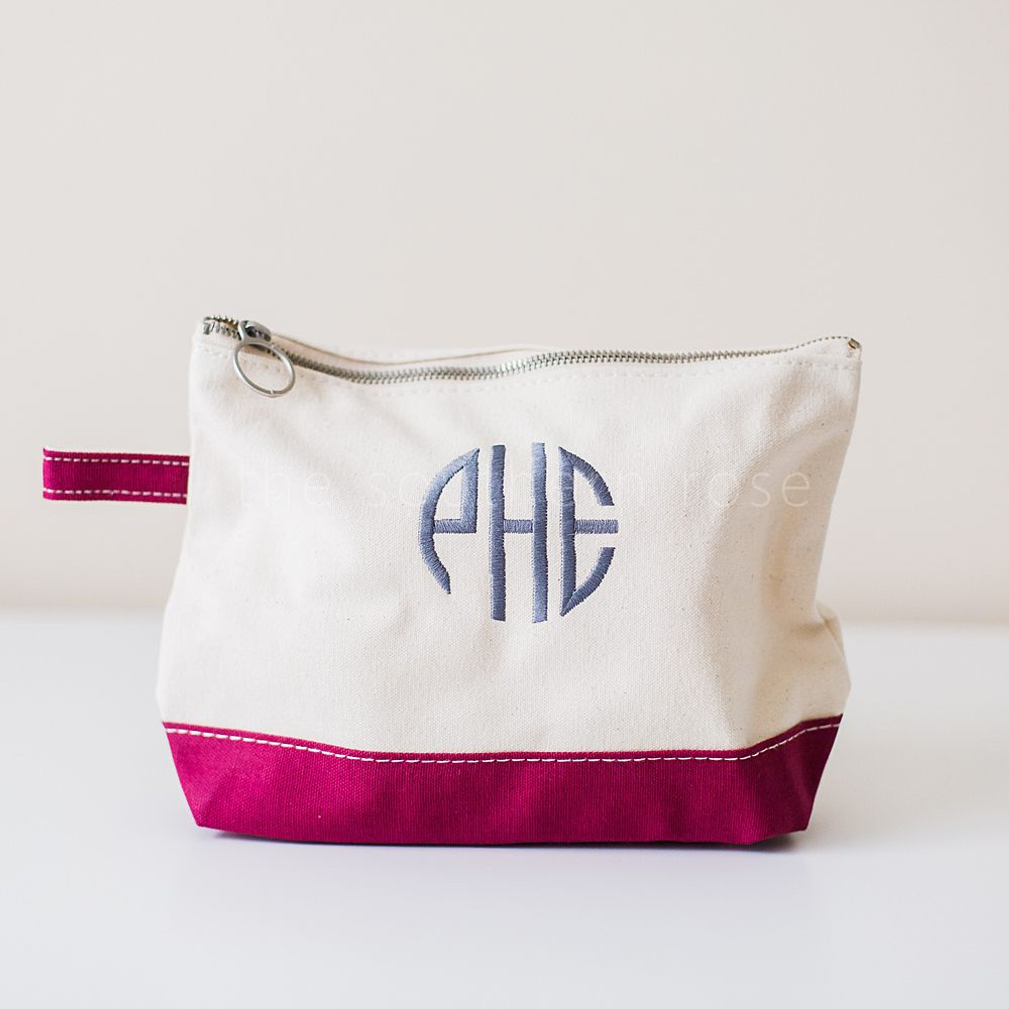 Personalized Cosmetic Bag - Maroon