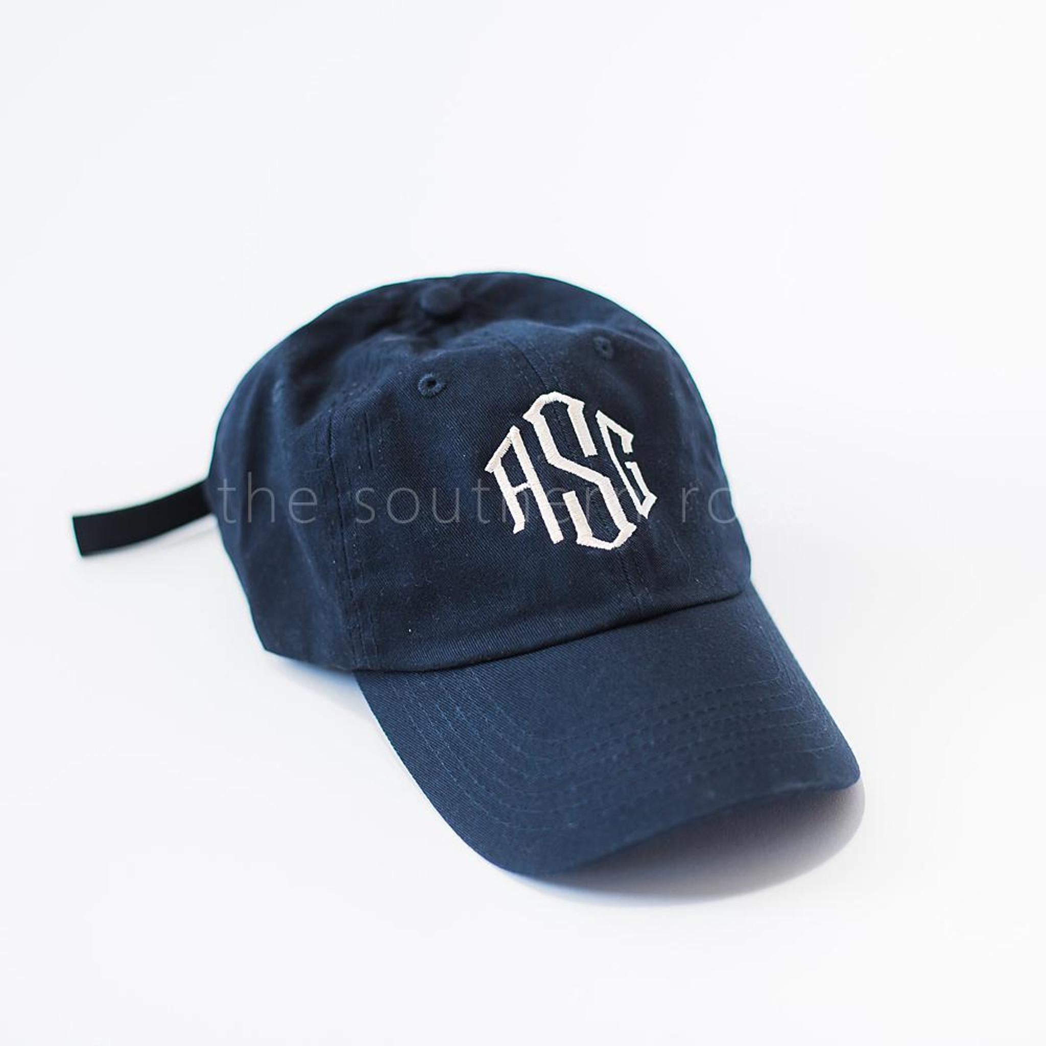 Navy Monogrammed Hat