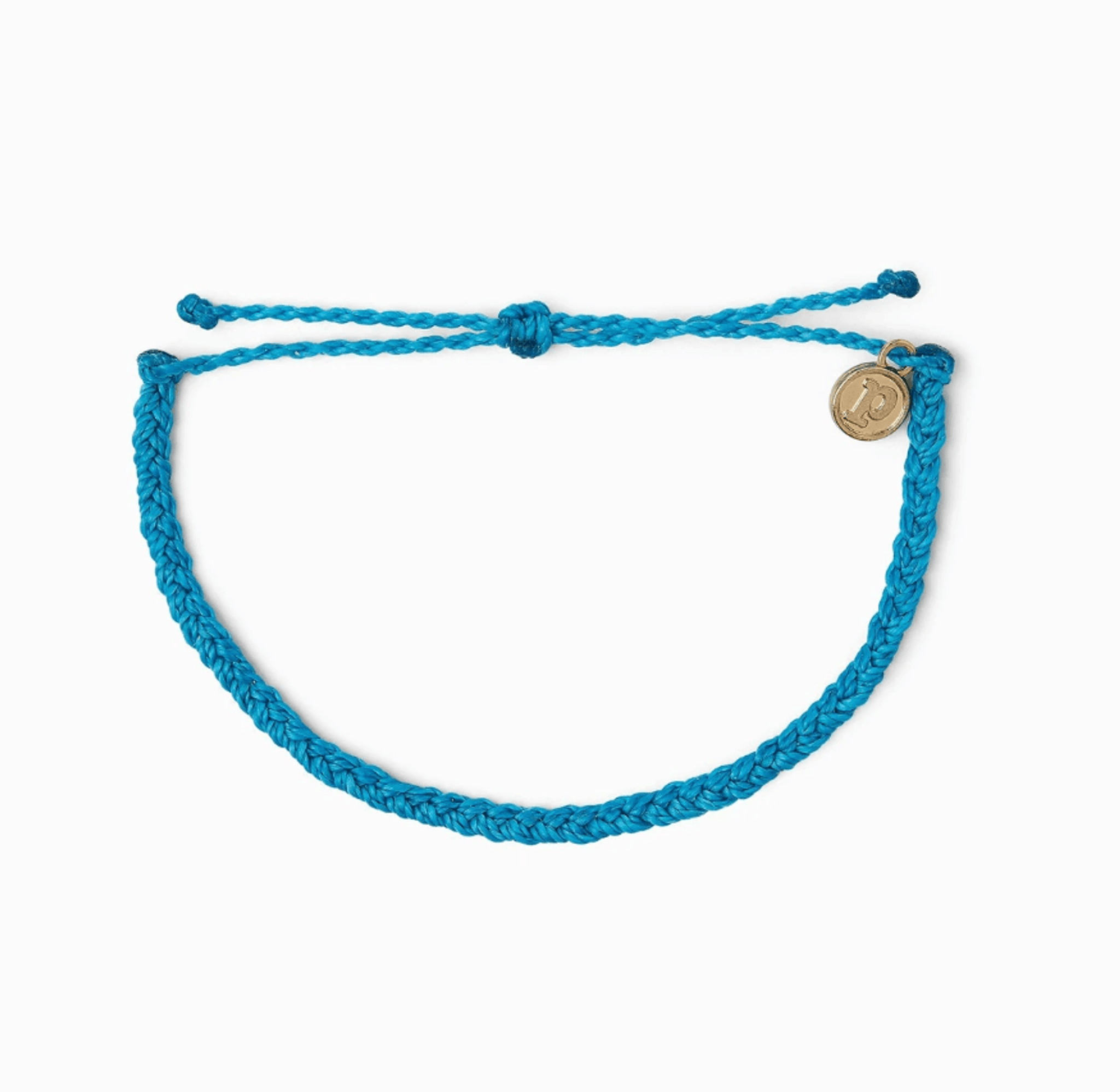 Braided Bracelet - Neon Blue