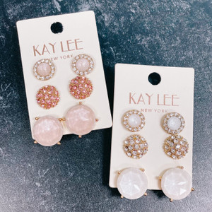 Crystal Studs Earring Set