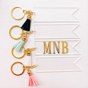 Personalized Acrylic Banner Keychain