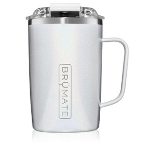 Brumate Toddy 16oz Mug - Glitter White
