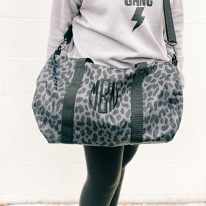 Duffle Bag - Black Cheetah
