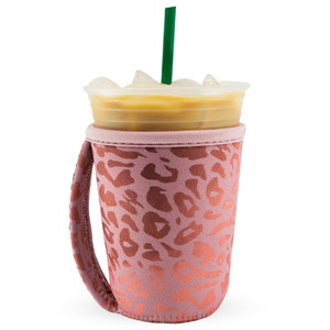 Go Cuff Beverage Sleeve - Pink Leopard (Small)