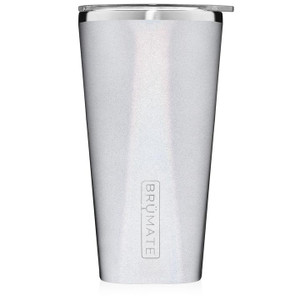 Brumate Pint Glass - Glitter White